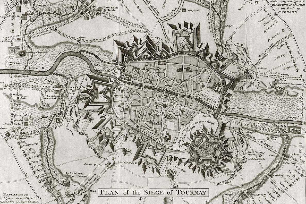 Plan of the Siege of Tournay